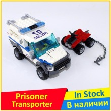 Prisoner Transport Vehicle 60043 Building Blocks Model Toys For Children BELA 10418 Compatible City Figures Brick Set(China)