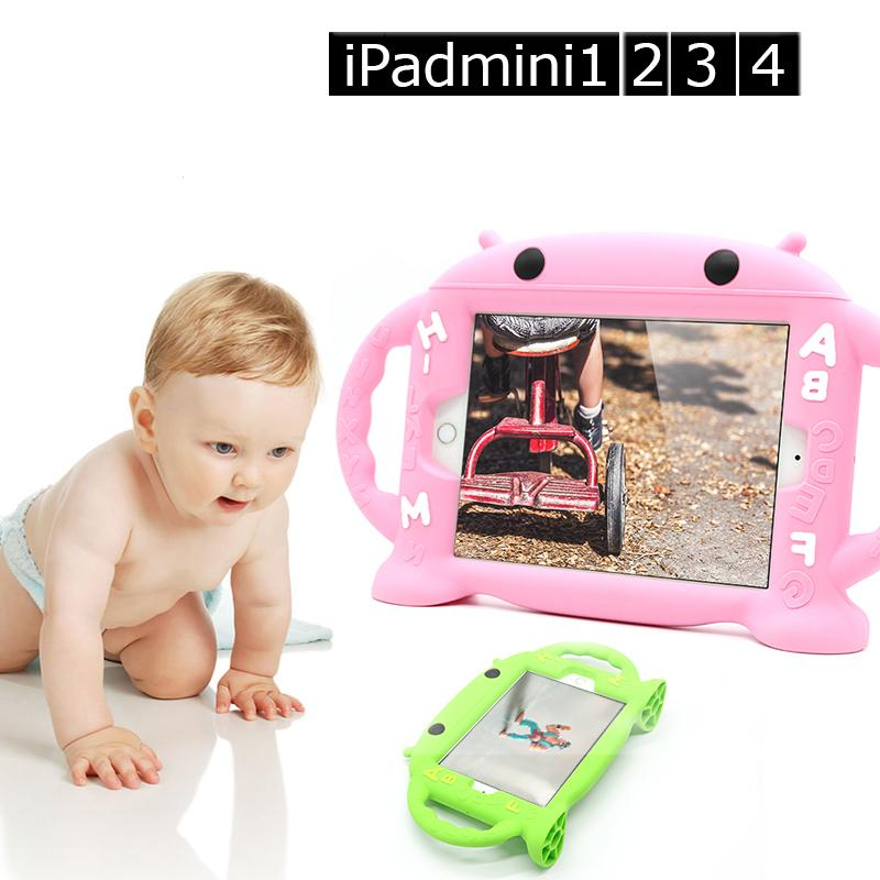 ZH-5298/5299 Robot Silicone Case for iPad mini 1/2/3/4 Kids Safe Shockproof iPad Mini 4 Cover with Handles Apple iPad mini case<br><br>Aliexpress