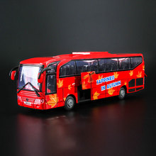 Kids Play Toys Car Model School Travel Bus Car Toys for Boy Gifts Children Educational Toys Car Pull Back Cars