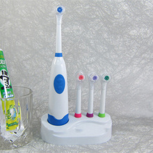 4 Colors 2016 hot sale POC Multi Adults Children Electric Toothbrush sets timer holder Wholesale Oral Hygiene 4 head brush(China)