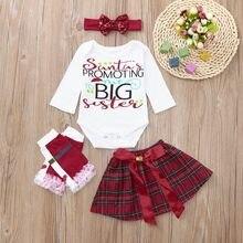 2018 niños otoño ropa set bebé recién nacido niñas mameluco + arco falda +  calentador de la pierna + Headbands Set ropa ropa de . 2adc3a59d790