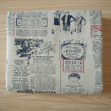 150cm X 50cm English newspaper printed linen cotton fabric canvas printing crafts cloth for luggage/tablecloth/sofa sets(China)
