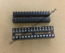 10PCS 28 Pin DIP SIP IC Sockets Adaptor Solder Type Narrow
