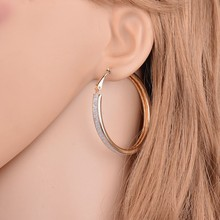 2017 Female Fashion Pendant Gold Color Big Circle drop Earrings For Women Vintage Punk Ear Clip Wedding Party Women Jewelry Gift