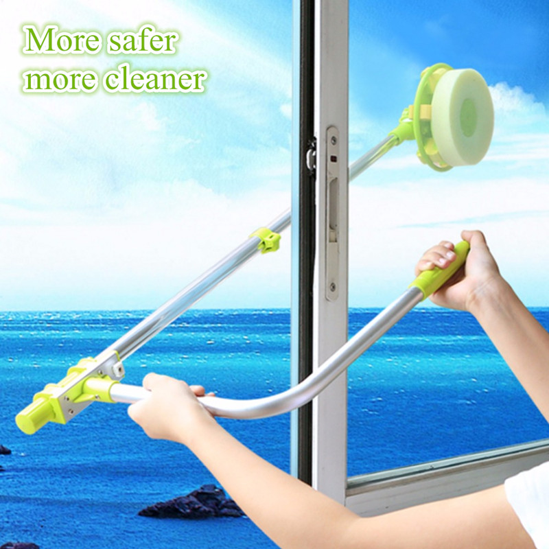 Hobot 168 Telescopic High-rise cleaning Glass Sponge ra Mop Cleaner Brush for Washing Windows Dust Brush Clean The Windows 188<br>