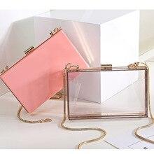 1b5c88f5503b BELLA JOY New Acrylic Transparent Women Clutch Bag Chain Luxury Brand Women  Messenger Bag Evening Bag