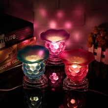 Fashion Dimmable Electric Fragrance Burner Night Lights Fragrant Lamp Candle Holders For Home Room Decoration Craft Gift(China)