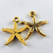 20PCS Antique Gold Tone Starfish Charms Jewerly Making Finding Necklace Hanging Art Accessory Factory Price Promotion Pendant(China)