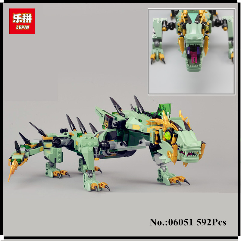 IN-STOCK Lepin 06051 Movie Series 592pcs Flying Mecha Dragon Building Blocks Bricks Education Toys Gift Compatible 70612 Toys<br>