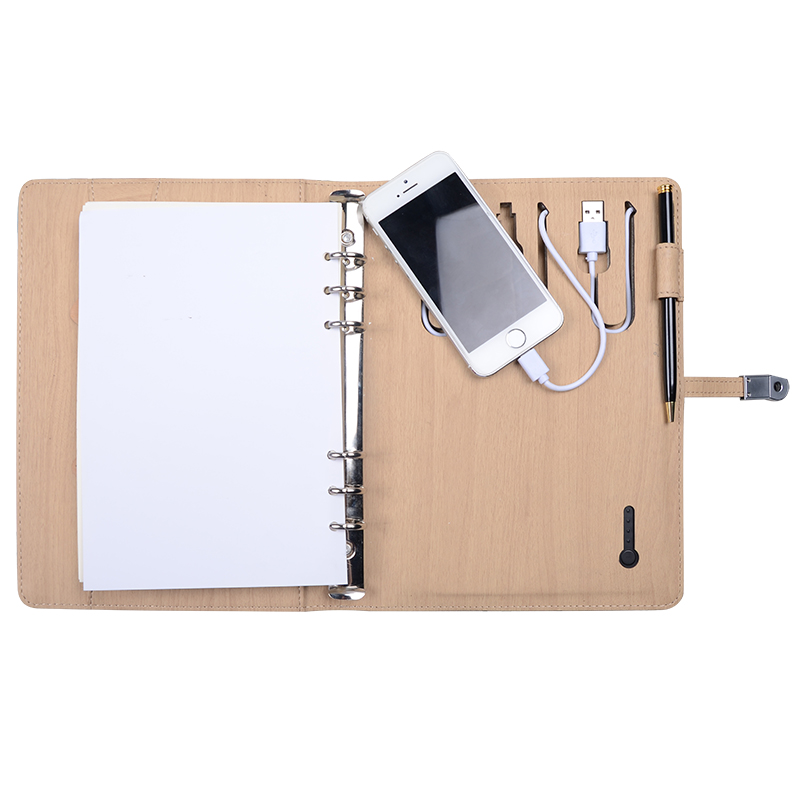 8G USB Portable Source Notebook with 10000 6000mAh Phone Power PU Leather Writing Business Notebook New Design <br><br>Aliexpress