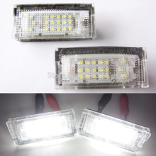 A Pair 18 SMD WHITE LED LICENSE PLATE LIGHT For 98-05 BMW E46 325i 328i 330i 4D TOURING(China)
