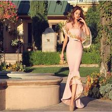 Hi Low Evening Dresses Long Ruffles Appliques Pink Elegant Evening Dress Saudi Arabia Formal Gowns WIth Jacket Robe De Soiree
