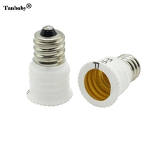 Tanbaby 10Pcs E12 To E14 Bulb Lamp Holder Adapter Socket Converter Light Base Candelabra Lamp Holder Converter(China)