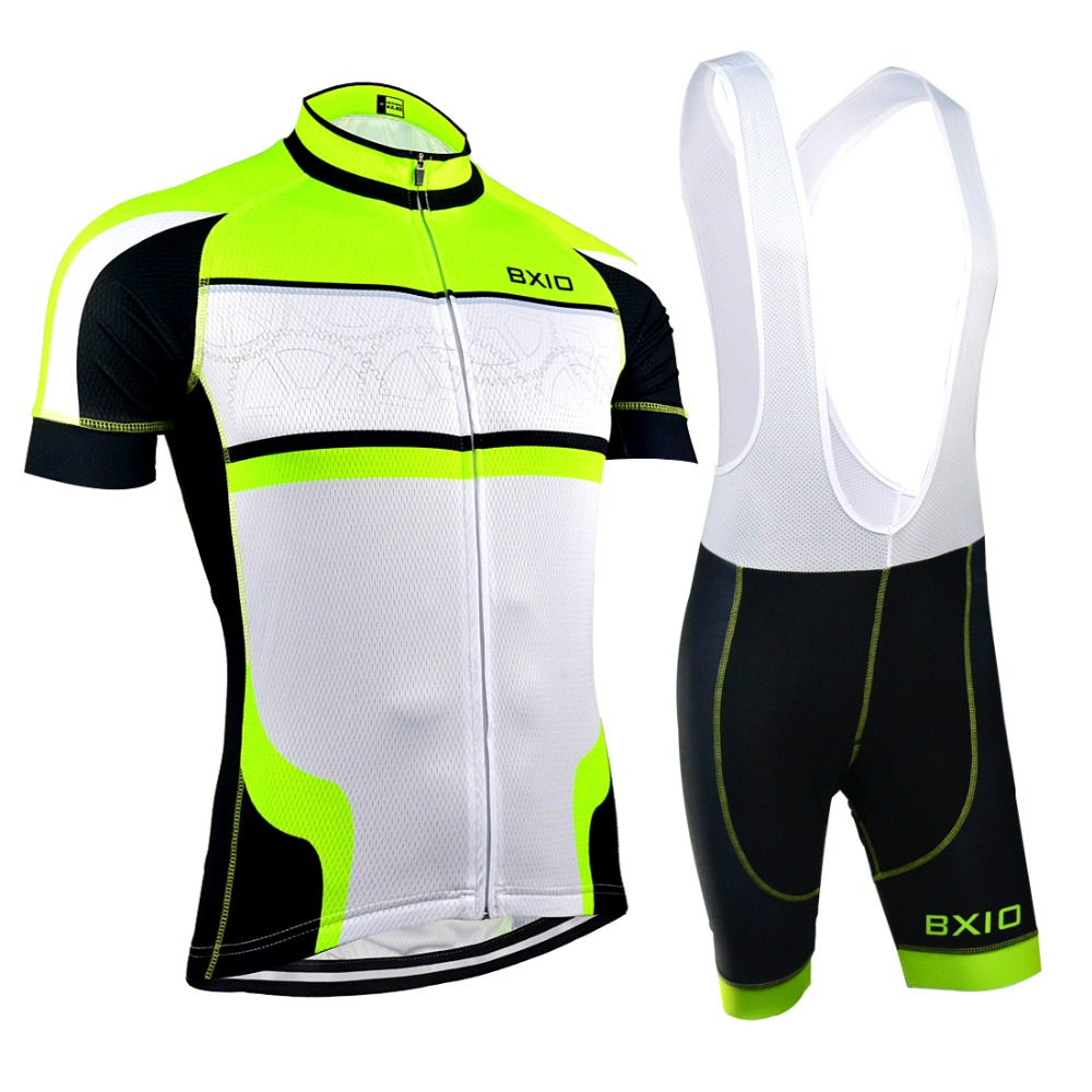 EU Brand BXIO Cycling Jersey Seamless Stitching Short Sleeves Bicycle Clothing Fluo Green 5D Gel Pad Short Maillot Ciclismo 127<br><br>Aliexpress