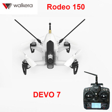 Original Walkera Rodeo 150 quadcopter with DEVO 7 transmitter 5.8G 40CH with 600TVL Night Camera 3D Aerobatic Mini FPV Racer RTF