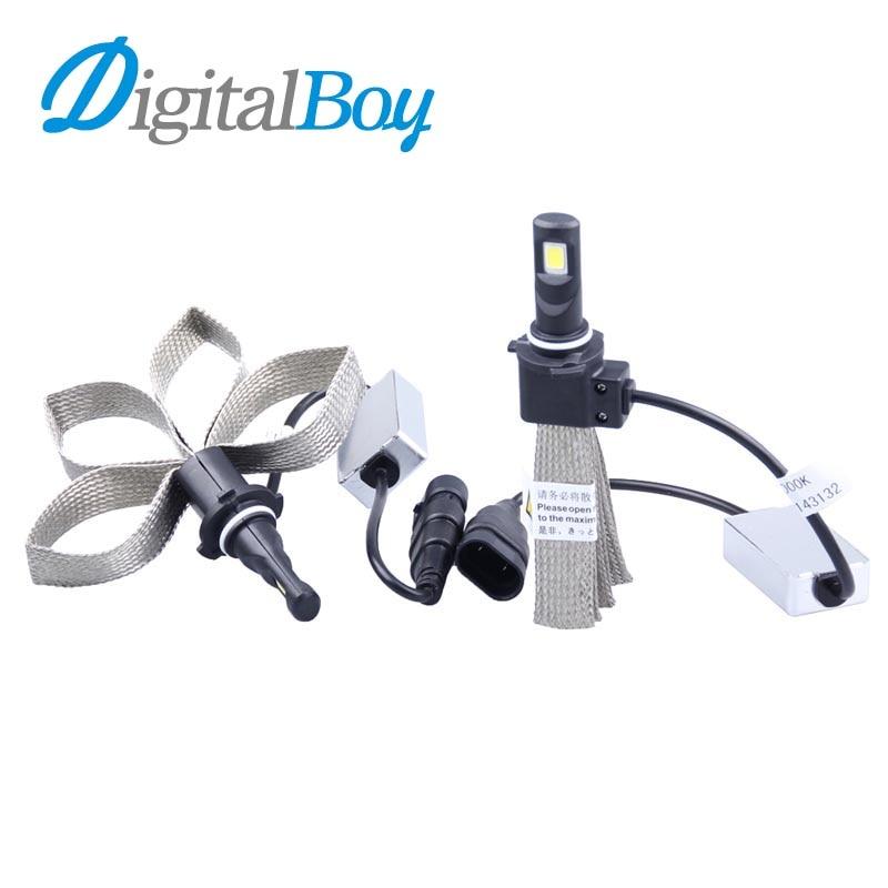 Digitalboy 12V 9006 LED Headlights Bulb 60W 9006 LED Fog Light 6000K Car Headlamp Bulbs Super Bright Car Lights Copper Braided<br><br>Aliexpress