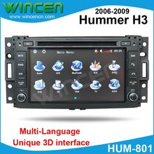 "7"" Car DVD Player for Hummer H3 with 3D Menu multilanguage support onboard computer HOT SELLING Free Shipping+Map(China)"