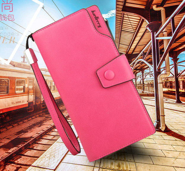new fashion Multicolor Ms. wax leather wallet female long paragraph leather wallets Purse for women free shipping 13848-3<br><br>Aliexpress