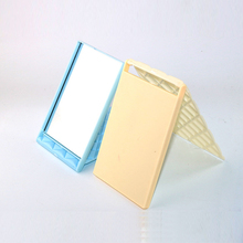 1pc New Square Makeup Mirror Plastic + Glass Portable Compact Cosmetic  Makeup Mirror For Women Lady Gifts P2