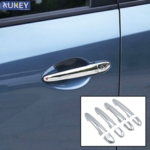 For Mazda CX-5 CX5 2012 2013 2014 2015 2016 2017 Chrome Side Door Handle Cover Trim Molding Catch Cap Overlay Decoration 8pcs(China)
