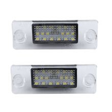 1Pair 12V 200mA SMD3528 18LED Car LED License Number Plate Lights Lamps Special For Audi A4 A3 S5 Car Lights Lamps Hot Sale