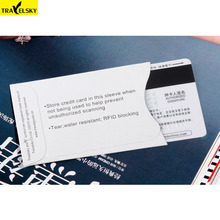TRAVELSKY New Arrival RFID Blocking Paper Card Cover Wholesale Smart Credit Card Holder 12 pcs/set Free Shipping 13591(China)