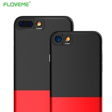 FLOVEME 360 Degree Camera Protective Case For Apple iPhone 7 6 6s Plus Rubber Smooth Hit Color Combo Texture Cover Phone Shells(China)