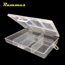 1pcs 6 Grid Slots Portable Transparent Plastic Tool Box Case Container For DIY Electronic Screw Jewelry Earring Art Storage(China)