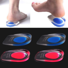 1Pair Massaging Soft Silicone Foot Care Tool Cushion Foot Massager Care Half Heel Insole Shoe Pad Height Increase(China)