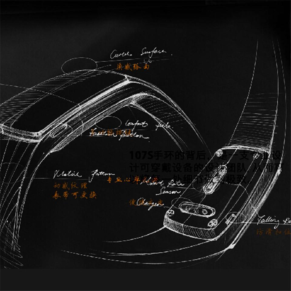 Teamyo New V05C Smart Band Pulse Heart Rate Monitor Smart Wristband Fitness Tracker Pedometer Sleep Tracker IOS Android Bracelet 6