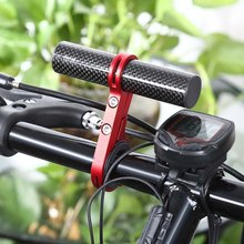 Outdoor MTB Bike Bicycle Carbon Fiber Handlebar Bracket Flashlight Holder Extender Mount Bicycle Handlebar Extender Accessories