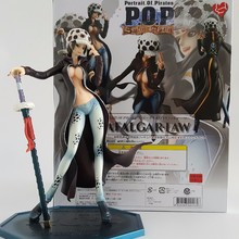 One Piece Action Figure Trafalgar Law Girl Ver. PVC Figure 210mm POP One Piece Girl Law Anime Sexy Toys Onepiece-Action-Figures