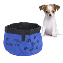 Pet Dog Travel Bowl Cat Collapsible Foldable Travel Camping Food Water Feeder Bowl Dish For Dog Pet Supplies