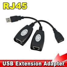 USB 2.0 Extension Extender Adapter Up To 150ft Using CAT5/CAT5E/6 RJ45 Lan Network Ethernet Repeater Cable New