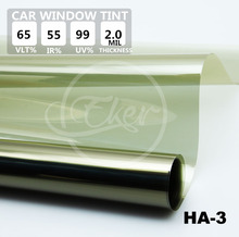 Free Shipping 1.52M*30M VLT65% UV99% IR55% Car Window Tint Film Roll High Quality Heat Reflective Solar Film