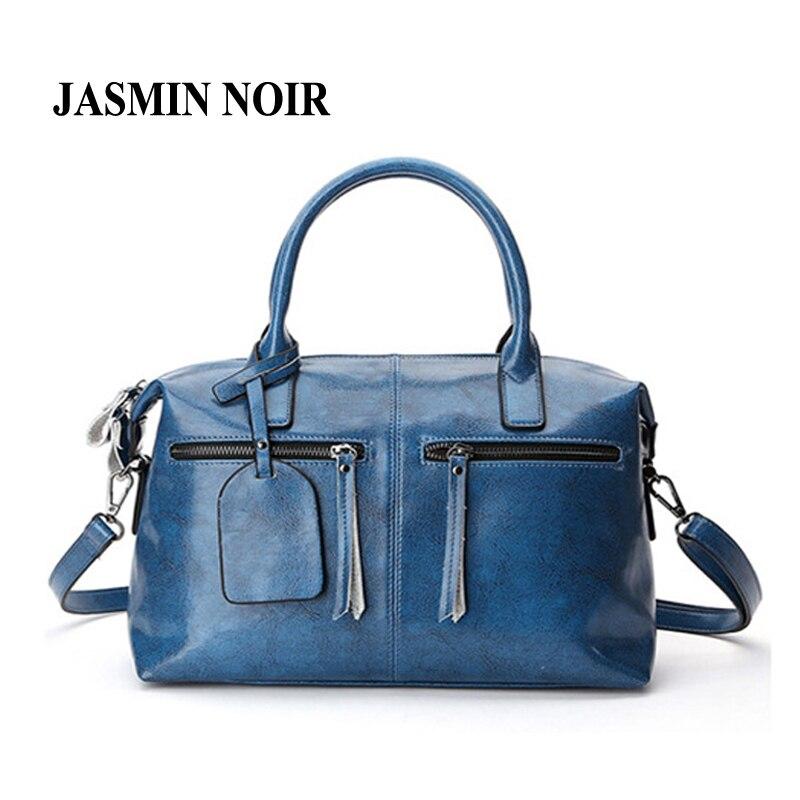 2017 New Women Real Cow Leather Boston Messenger bag Lady Dating Tassel Crossbody Bag Big Causal Female Genuine Leather handbags<br>
