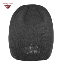 Winter Hat Warm Sport Beanies Knit Hats Men Knitted Ski Skullies Men Wool Caps Men Custom LOGO Cap Christmas Gift For Men CX012(China)