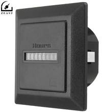Timer Square Counter Digital 0-99999.9 Hour Meter Hourmeter Gauge AC220-240V(China)