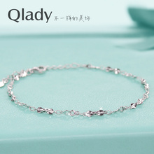 pure silver couple Bracelet female Korean students on a simple Mori bestie fresh personality South Korea hand jewelry