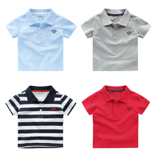 Boy's baseball shirt short sleeve T-shirt new summer 2017 han edition of children's wear children's baby U5807