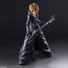 23 cm Kingdom Hearts 2 PVC Action Figure PLAY ARTS ROXAS XIII authorities Moveable model collectible toys car decoration
