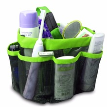 2016 New Brand Mesh Fabric Quick Dry Shower Tote Storage Bag Bath Organizer Handbag For Bathing Bathroom Accessories 3 Colors