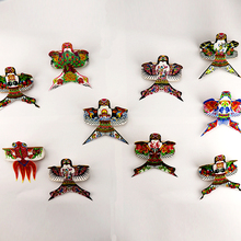10pcs/lot High quality decorate sand martin swallow pocket kite silk bamboo weifang kite factory outdoor toys bat kite wholesale(China)