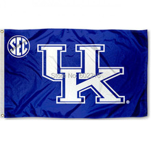 Kentucky Wildcats SEC College Large Outdoor Flag 3ft x 5ft Football Hockey Baseball USA Flag(China)