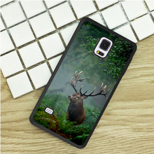 BOLD STAG NATURE Black Rubber TPU Phone Cases For Samsung Galaxy S3 S4 S5 mini S6 S7 Edge S8 plus Note 2 3 4 5 Cover Soft(China)