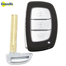 Smart keyless entry Remote Key Shell Case Fob 3 Button for HYUNDAI IX25 IX35 Elantra Sonata Tucson with uncut insert key(China)