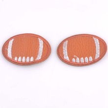 3pcs New Embroidered sport football Applique Iron On Sew On Patch Clothing ball DIY 3.7x5.4cm cp1078
