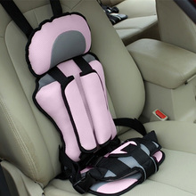 Upholstery Car Seats Covers Kids Safety Rear Seat Thickening Fabric Cotton Adjustable Belt Children's Chairs 4 Season Universal(China)