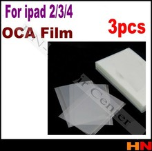 3pcs OCA for iPad 2 3 4 oca film for repair broken LCD touch screen oca laminator