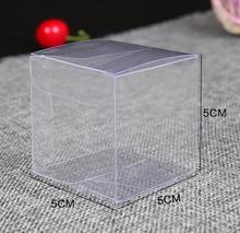 100pcs/lot Clear Plastic Package Boxes PVC Box Wedding Favor Baby Shower Sweet Candy Gift Packaging Box Party Supplies 5*5*5cm